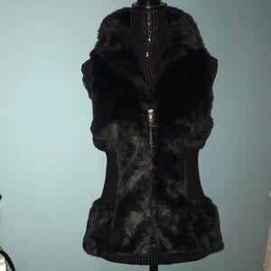Romeo & Juliet Couture faux fur black vest